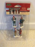 2001 Lemax Village Collection OFF TO SCHOOL Set of 3 Figurines #12494A RETIRED