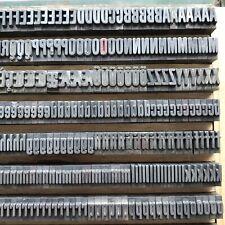 28p - schmalfette RUNDE GROTESK - Bleisatz Buchdruck Handsatz Letterpress Type