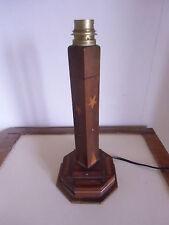 Pied de lampe années 30 marqueterie , incrustation , pied gradin , colonne