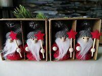 2 Größen Zwerg Wichtel Holz Weihnachtsdeko Adventsdeko Scandi