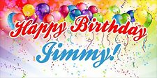 Custom Birthday Banner - Custom Text, Multiple Colors, Unisex