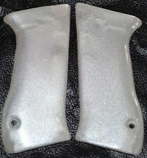 Jericho 941 pistol grips smooth pearl white plastic