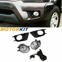For Toyota Tacoma 12-15 Clear Fog Lights Bumper Driving Lamp W/ Switch H11 Bulbs