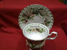 "Royal Albert England Flower of the Month cup/sacer ""December-Christmas Rose"""