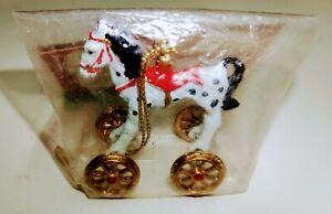 Vintage Miniature Horse on Wheels Toy DollHouse X-Mas Ornament FRANK'S NURSERY