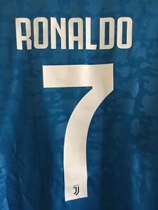 Adidas Juventus Ronaldo 7 3rd Kit 2019-20 Blue White Jersey Size XL Men's Only