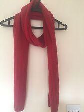 Rosso Originale Calvin Klein Sciarpa A Maglia