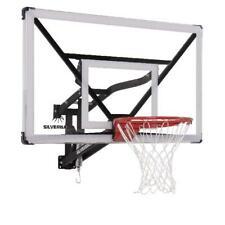 "Wall Mount Basketball Hoop Adjustable Sports Game Play Hanging Basket Rim 54"""