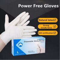 100Pcs Disposable Dental Medical Nitrile Exam Gloves Powder Free Strong Size M/L