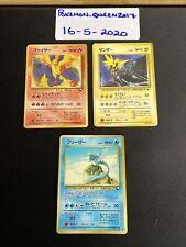 Pokemon Articuno - Zapdos - Moltres - Japanese Vending Series 2 Non Holo Birds