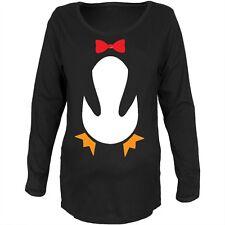 Penguin Costume Black Maternity Soft Long Sleeve T-Shirt