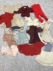 Vintage Lot Of Doll Clothes Dresses Ideal Vogue Effanbee Bisque