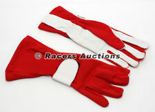 New SFI Double Layer Karting Auto Racing Gloves Red Size Medium Dirt Drag