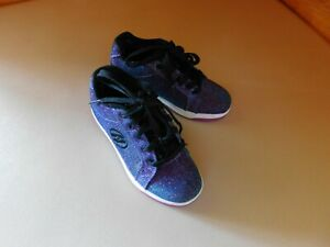 Heely Purple Blue Glitter Girls Youth Kids Skate Shoe Size US 2 Style Preowned