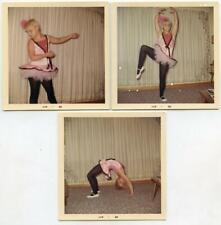 Kid Girl Ballerina Ballet Dancing Costume 3 Vintage 1968 Photos