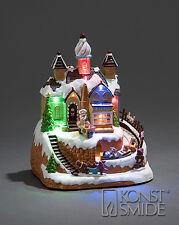 decorazione di Natale 21.5cms LED ANIMATO Panificio neve Scena mobile TRENO