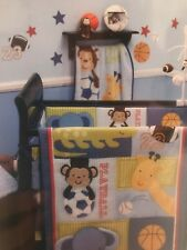 Little Bedding By NoJo Removable Wall Stickers Play Time - monkey sports soccer