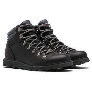 Para hombres Cuero Sorel Madson excursionista impermeable nieve invierno botas de suela de goma UK 7-13