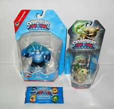 SKYLANDERS TRAP TEAM LOT TRAP MASTER GUSTO &  FUNNY BONE WITH DOG TAG PACK NEW