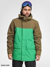 Burton TWC Green Black Tan Headliner New Snowboard Ski Jacket M $250