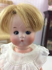 "9"" Antique German Fired Bisque Head Doll AM JUST ME!  Composition Body"