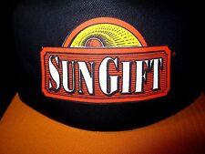 SUN GIFT logo vtg baseball hat fruit juices OG snapback cap Akron OHIO Pure Food