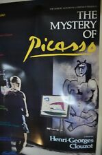 The Mystery Of Picasso Movie Poster, with Picasso as Himself, Original