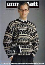 Anny Blatt Knitting Magazine No 105 Special Hommes Men's Edition - 24 Patterns