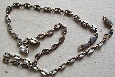Chaine collier métal argenté belles mailles 50 cm