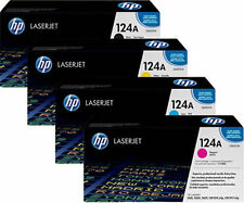 4x tóner HP Color LaserJet 1600 2600n 2605 DN 2605 dtn cm 1015 MFP 1017 124a set
