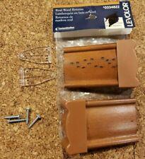 LEVOLOR  Wood Blind Returns - Set of 2- Rustic Oak - 0334822- NEW