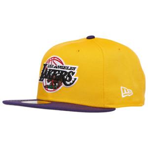 Los Angeles Lakers Hat New Era 9Ffity LA Snapback Cap Yellow Purple Cali Flag