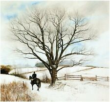 """Peter Sculthorpe Original Hand Drawn Lithograph """"The Hilltopper"""" Fox Hunting"""