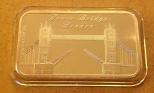 1oz Pure Silver 999  Bar -LONDON - TOWER BRIDGE