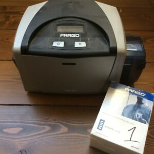 Fargo DTC400 ID Card Thermal Printer + New Color Ribbon