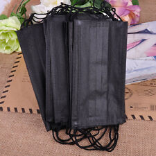 20x Filter 3- layer Black Disposable Breathable Earloop Surgical Face Mouth Mask