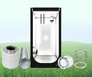 Growbox Set Secret Jardin Hydro Shoot 40 60 80 100 120 + Abluft Kit Growset LED