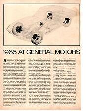 1965 AT GENERAL MOTORS ~ ORIGINAL 5-PAGE NEW CAR PREVIEW ARTICLE / AD