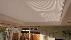 PLEATED ROOF & WINDOW BLINDS - LEAN TO CONSERVATORY, ORANGERY, SUN ROOM, LANTERN