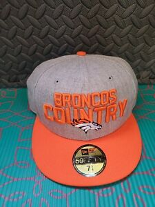 New Era Hat 59Fifty NFL Denver Broncos Country Logo Fitted Cap Size 7 5/8