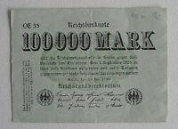 Reichsbanknote 100 000 Mark Berlin 1923 OE 35    (645)