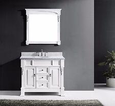 "VIRTU 40"" HUNTSHIRE GS-4040-WH SINGLE BATHROOM VANITY SET IN WHITE FINISH"