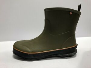 Bogs Digger Mid Mens Waterproof Boots Olive Size 10 M