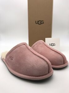 W UGG Pearle Blush Pink Suede / Sheepskin Slippers BLUS Woman NEW  -NIB-