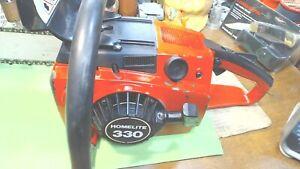 "Vintage--HOMELITE 330- Chain saw -19"" bar --Gone Over-=  Runs Good"