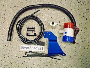 Kawasaki 550sx 750 sx sxi pro Jet-Ski 500 gph Bilge Pump Kit w/ bilge bracket