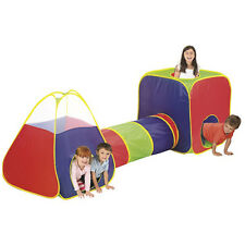 Kids Big Play Tent With Tunnel Large Colorful Playing Tent - Tunnel & Carry Case
