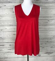 Piko 1988 Women's Red V-Neck Wide Strap Sleeveless Tank Top Size Small