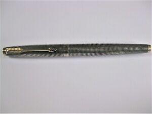 Ink Pen, Sterling Silver With Gold Pen 18 K, Parker