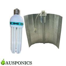 2x 130W 2700K CFL GROW LIGHT + ALUMINIUM REFLECTOR Lighting Kit For Hydroponics